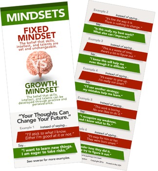 35 pc Growth Mindset Book Mark Pack