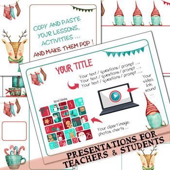 "35 presentation templates ""WINTER & CHRISTMAS"" for Google Slides™"