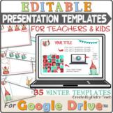 "35 presentation templates ""WINTER & CHRISTMAS"" for Google Slides™"