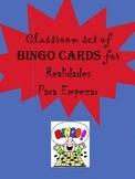 35 printable/editable Spanish Bingo Cards for Realidades P