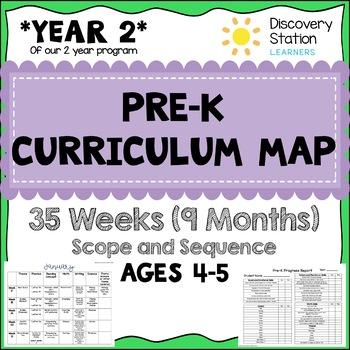 35 Week Curriculum Map For 4 Year Old Prek Preschool Tpt