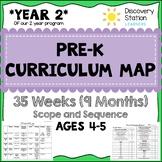 35 Week Curriculum Map for 4 year old PreK Preschool
