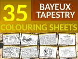35 x The Bayeux Tapestry Coloring Colouring Sheets Starter