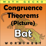 #350 - Triangle Congruence Theorems Picture (Bat)