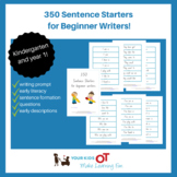 350 Sentence starters for beginner writers - Kindergarten and year 1