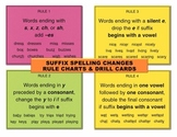 Suffix Spelling Changes – Rule Charts & Task Cards