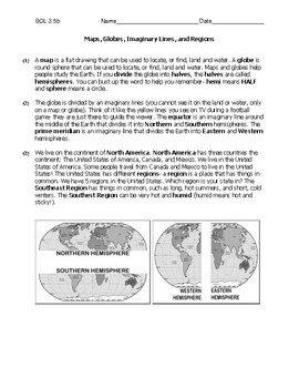 3.5b Maps, Globes, Lines Comprehension