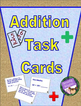 36 Addition Task Cards  - Mixed Problem Type