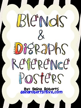 36 Blends & Digraphs Reference Posters - Jungle Theme