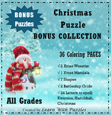 36 Christmas BONUS Collection - 36 UNIQUE Coloring Pages -