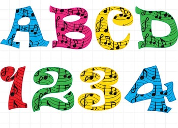36 ClipArt - Musical Notes Alphabet ClipArt- Digital Clip Art (131)