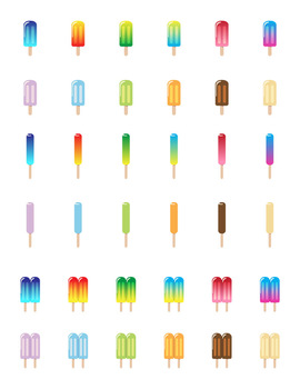 36 Colorful Popsicles   Summer Food Graphics   Ice Cream   PNG, AI, EPS