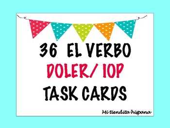 36 DOLER AND INDIRECT OBJECT PRONOUN TASK CARDS