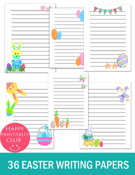 36 EASTER WRITING PAPERS TEMPLATE- WRITING PAPERS FOR EASTER SPRING