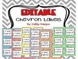 36 EDITABLE Chevron Labels / Tags