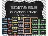 36 EDITABLE Chevron and Chalkboard Labels / Tags