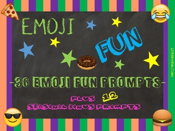 36 Emoji Fun Creative Writing Prompts plus 12 Seasonal Bonus Prompts