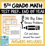 5th grade Test Prep Task Cards Includes All Common Core Standards for Math fifth