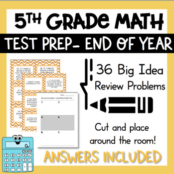 5th grade Test Prep Task Cards Includes All Common Core St
