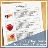 Early Intervention Parent Handouts: Everyday Items for Speech and Language