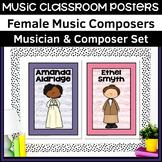 36 Female Composer   Music Class Poster Set