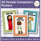 36 Female Composer | Music Class Poster Set
