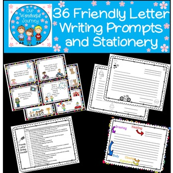 36 Friendly Letter Writing Prompts and Stationery