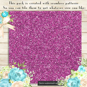 36 Glitter and Solid Color Princess Black, Pink and Blue