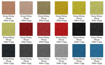 36 Glitter and Solid Color Princess Black, Red and Yellow