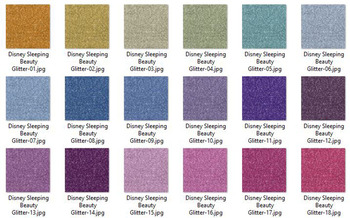 36 Glitter and Solid Color Princess Pink and Purple Papers