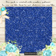 36 Glitter and Solid Color Princess Red and Indigo Papers