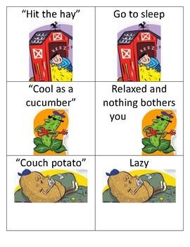 36 Idiom Picture/Phrase Cards