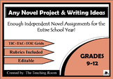Assignments for Any Novel {Editable}