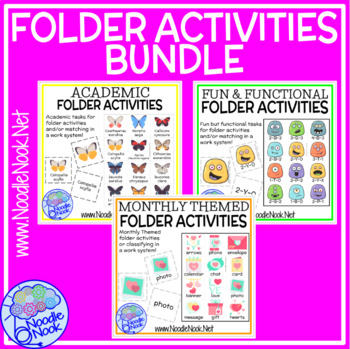 36 Leveled Folder Activities for Centers, SpEd, and Autism Units- 100+ IN ALL