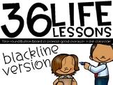 36 Life Lessons - BLACKLINE