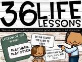 36 Life Lessons - Rustic Charm