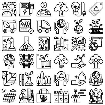36 Line Icons - Environment