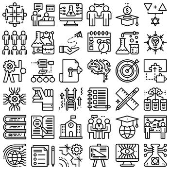36 Line Icons - STEM Education