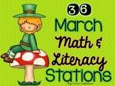 {36} March Math & Literacy Station Bundle