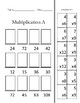 36 Multiplication Cards Facts to Know Cut and Paste
