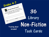 36 Non-Fiction Book Task Cards--Library Activity!