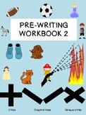 36 PAGES PRE-WRITING WORKBOOK 2 cross, diagonal, oblique cross prek1 OT
