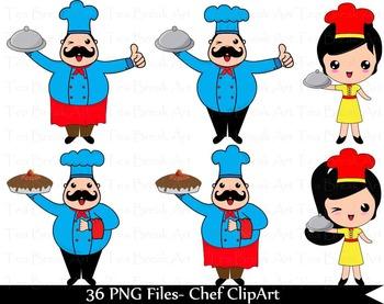 36 PNG Files- Chef ClipArt -Digital Clip Art137