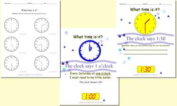 36 Page Printable Worksheets - Learning How To Tell Time