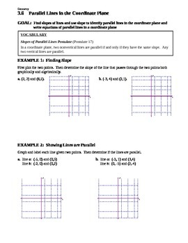 3.6 Parallel Lines in the Coordinate Plane