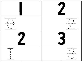 36 Part-Whole 4x5 Trace and Fill In the Missing Number Car