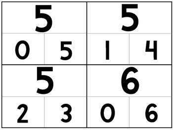 36 Part-Whole Numbers 1-10 4x5 Flashcards. PreK-Kindergarten Math Flashcards.