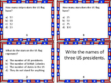 36 Patriotic Task Cards for Veteran's Day/ Memorial Day / Fourth of July