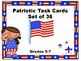 36 Patriotic Task Cards for Veteran's Day/ Memorial Day /