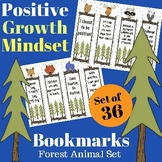 36 Positive Growth Mindset Bookmarks - Woodland / Forest Animals